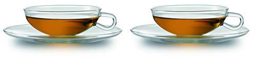 Jenaer Glas Edition Wilhelm Wagenfeld Teetasse mit Untertass...