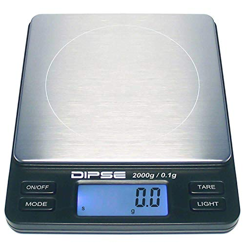 Dipse Digitale Laborwaage TP-2000 x 0,1 - Feinwaage mit 0,1g...