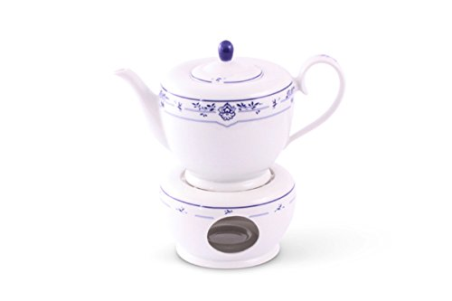 Teekanne/ Stövchen Set Atlantis Friesisch Blau