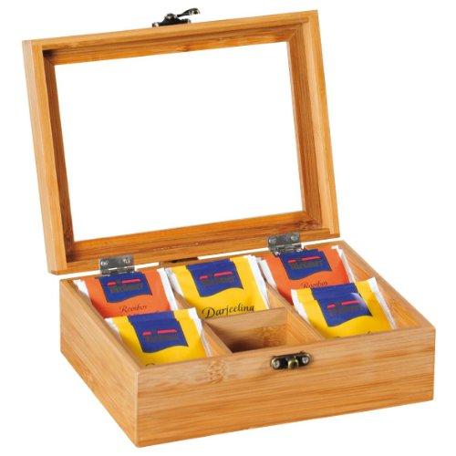 Kesper Tee-Box Bambus, Holz, braun 22 x 19 x 16 cm