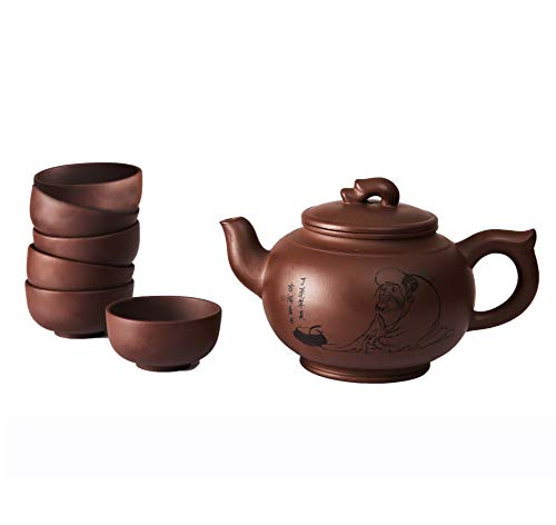 Chinesische Yixing Zisha Tee Set, Handgemachte Lila Ton Teek...