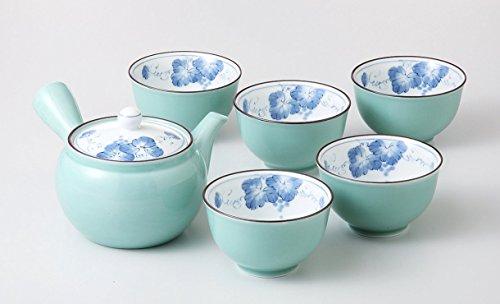 Japanisches Teeservice BUDO Grün Teeset aus Porzellan herge...