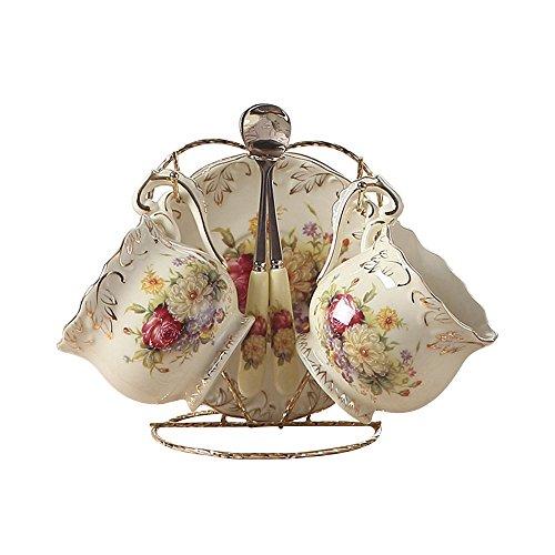 4 Stück Europäisches Königliches Elfenbein Porzellan Tee ...
