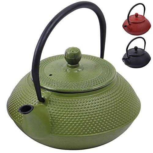 Deuba Teekessel Gusseisen 750 ml Grün Asiatische Teekanne J...