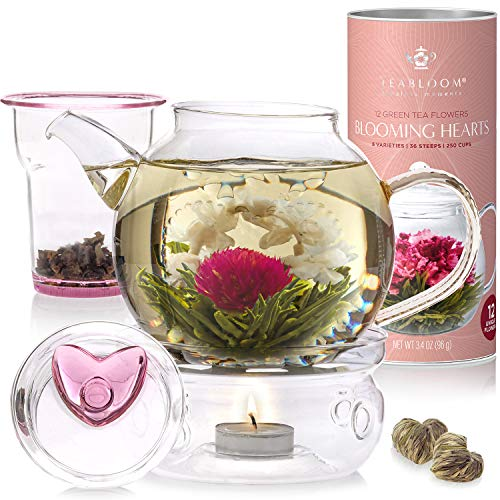 Teabloom Eternal Love Blühender Tee & Teekanne Geschenkset ...