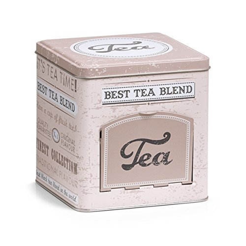 Zeller 19160 Teedose mit Klappe Tea, eckig, Metall, ca. 13 x...