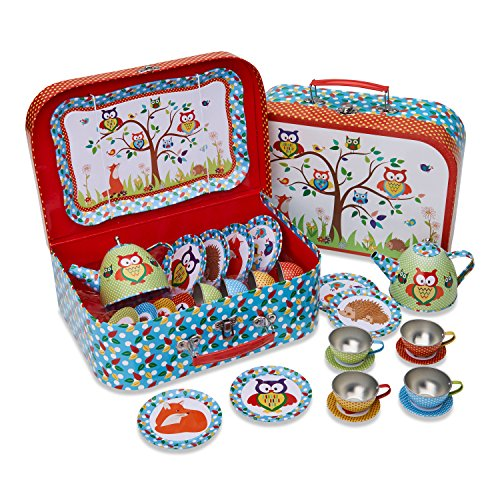 'Woodland Tiere Kinder Dose Tee-Set & Carry Fall (14-teilige...