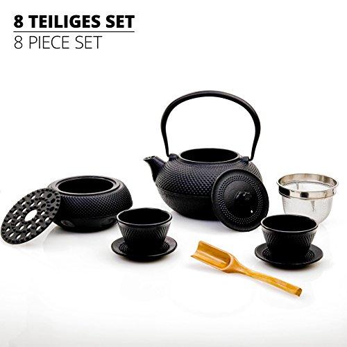 Lumaland Tee Set 8-teilig - 1,4 Liter Gusseiserne Teekanne, ...
