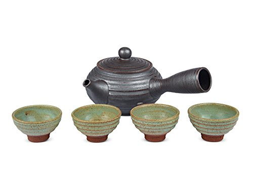 myteapot Kyusu Teekannen-Set Basic anthrazit 550ml incl. 4 S...