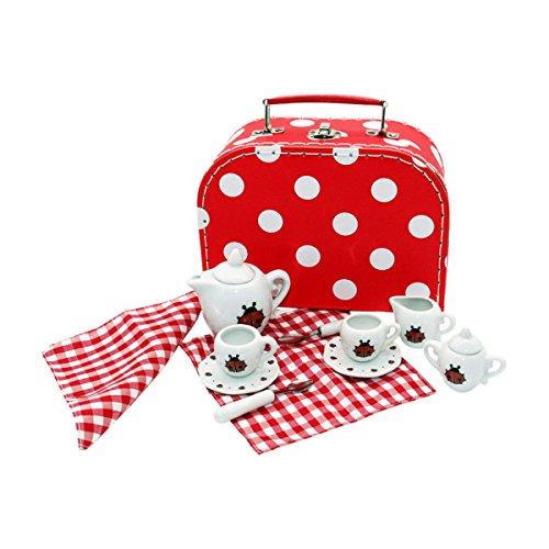 GICO Marienkäfer Tee Service Set für Kinder im Koffer aus ...