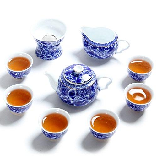 CHAJU Chinesische Kung Fu Tee-Set-Serie, Teekanne, Teetassen...